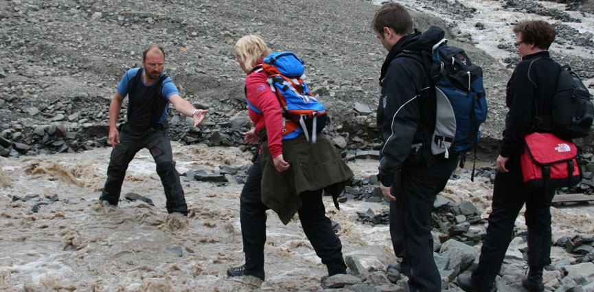På Svalbardkurset er det mange turer i ulendt terreng. Foto: Eva Therese Jenssen.